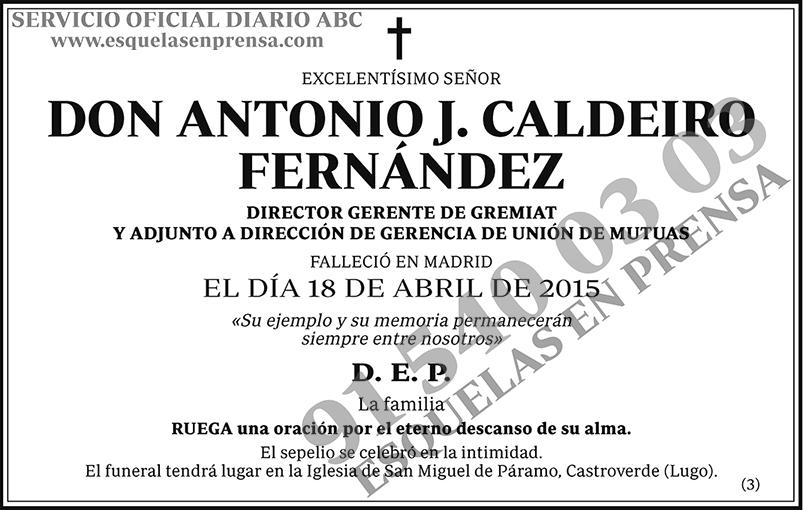 Antonio J. Caldeiro Fernández